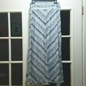 Ladies Grey/Navy Maxi Skirt